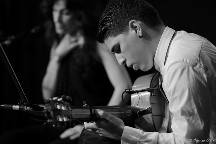 Foto de Rubén Lara en el Círculo Flamenco de Madrid, tomada por Alfonso Otero