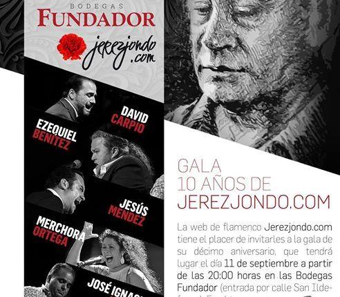 Imagen del cartel de los premios Juan de la Plata, siendo uno de los premiados el Círculo Flamenco de Madrid, organizado por Bodegas Fundador y jerezjondo.com