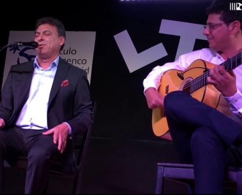 Foto de JLuis Moneo y Juan Manuel Moneo en el Círculo Flamenco de Madrid el 11/05/2017, tomada por Rafael Manjavacas.