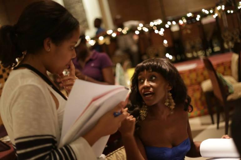 (L-R): An African City Creator Nicole Amartefio & Actress Nana Mensah / Credit: An African City