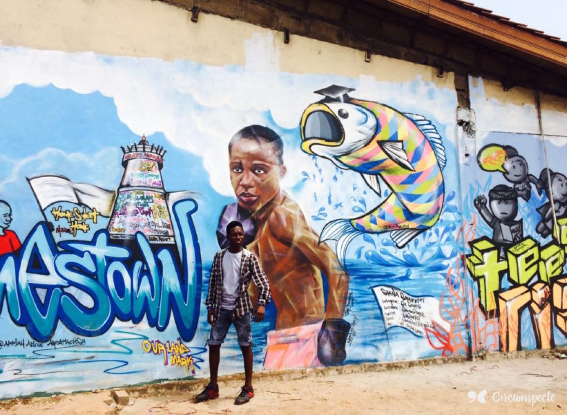 The sixth edition of the Chale Wote Street Art Festival took place in August in Accra and the historic Jamestown. Featuring The Open Gallery, The LABs, Spirit Robot Panels and a two-day street art festival it attracted Ghaniaans, Africans and people from all over. Credit: Jemila Abdulai