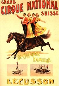 Cirque National Suisse - Les Lécusson - 1901 au Cirque
