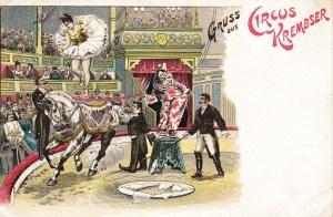 carte postale Kremser - 1901 au Cirque