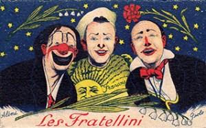 portrait des Fratellini au Cirque Medrano - Boum-Boum