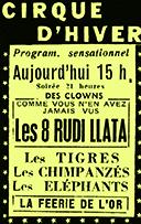 annonce du Cirque d'Hiver avec les Rudi LLata en vedette - rudi llata