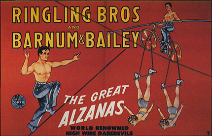 Alzana, l'incroyable funambule de Cirque