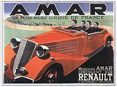 Publicité Renault avec les frères Amar - les cirques motorisés
