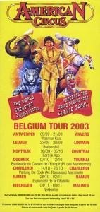 American circus flyer, cirque monumental