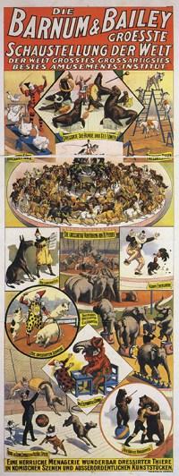 Affiche de Barnum & Bailey en Allemagne - - Année 1900 au Cirque