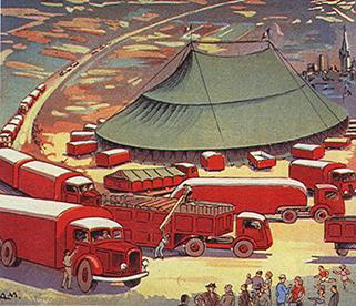 Premiers cirques motorisés