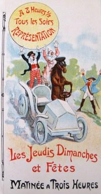 Cirque Bureau, direction Bureau frères - illustration du programme d e 1911