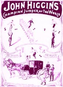 affiche de John Higgins, sauteur aux haltères