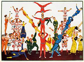 Affiche d'acrobates - Lexique du Cirque