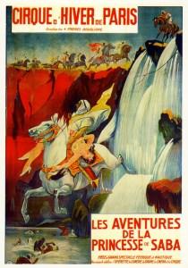Affiche de la Princesse de Saba - frères Bouglione