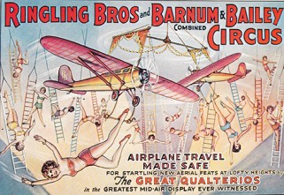 Revolving aeroplane aerial act - Circus Dictionary
