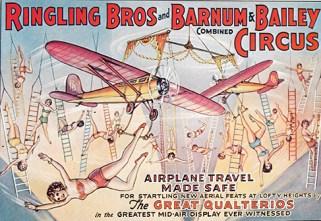 Revolving aeroplane aerial act - Circus Dictionary