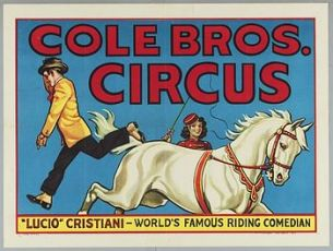 Riding comedian - Circus Dictionary