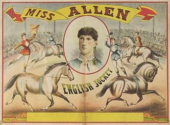 Jockey miss Allen - Circus Dictionary