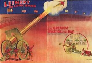 Human cannon ball Leinert - Circus Dictionary
