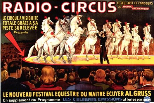 Le maître écuyer Alexis Gruss Senior au Radio Circus - cheval
