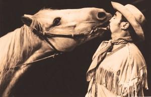 photo de Tony Hoccheger et son cheval Racket-Jacket - cheval au Cirque