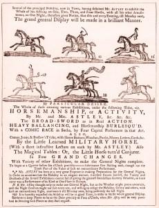 Affiche Astley 1774 - Astley