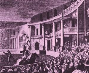 scène équestre à l'Intérieur du Royal Circus