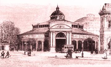 Gravure : Le Cirque de Copenhague en 1886