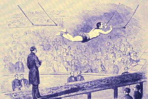 Leotard au trapèze volant