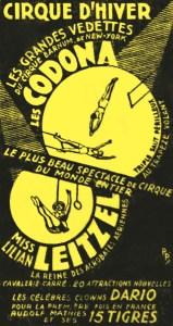 Annonce du Cirque d'Hiver - Codona