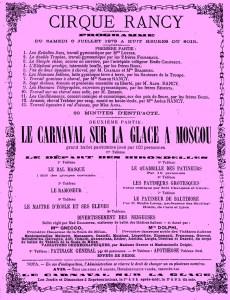 Programme Cirque Théodore Rancy - Amiens