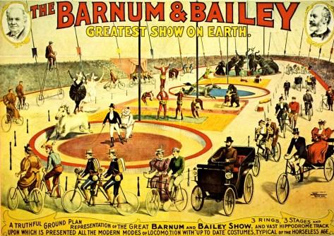 affiche Barnum & Bailey - cyclistes