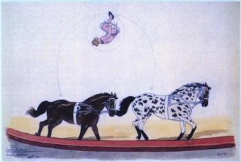 Lucio Christiani par les demoiselles Vesque - acrobates à cheval