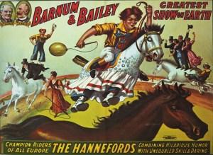 Poodles Hanneford - acrobates à cheval