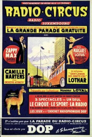 Affiche du Radio-Circus - parades