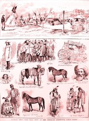 dessin de Buffalo Bill dans la presse