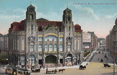 Façade du Cirque Albert Schumann à Franckfort - Année 1905