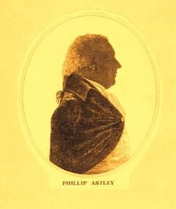 Philip Astley en médaillon - 1768 au Cirque