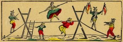 Danseurs de corde en 1768 au Cirque