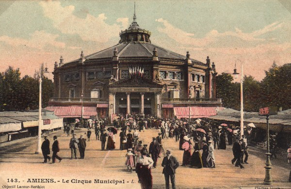 Façade du Cirque d'Amiens - CPA
