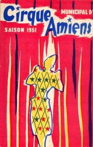 Cirque d'Amiens en 1951 - Programme