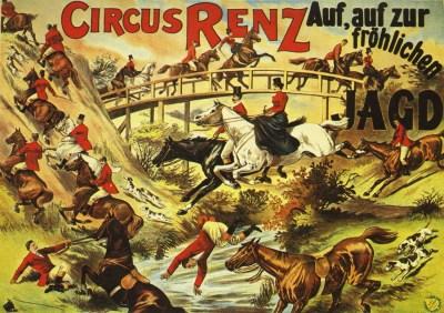 Auf, auf zur fröhlichen JAGD - pantomime de Cirque