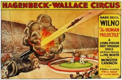 Wilno au Cirque Hagenbeck-Wallace - hommes projectiles