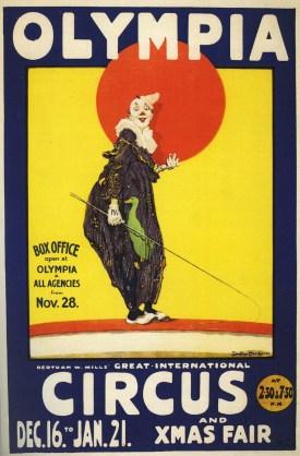 Bertram Mills à l'Olympia en 1921 - Bertram W. Mills