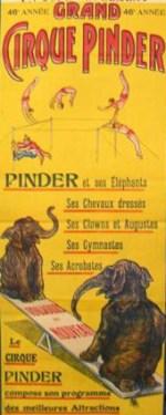 affiche Pinder 1913 - Court acrobate
