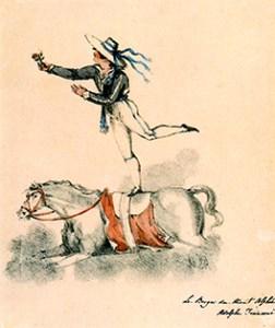 Adolphe Franconi acrobate à cheval - deuxième Cirque Olympique