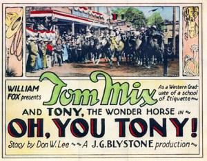 Film de Tom Mix avec Tony