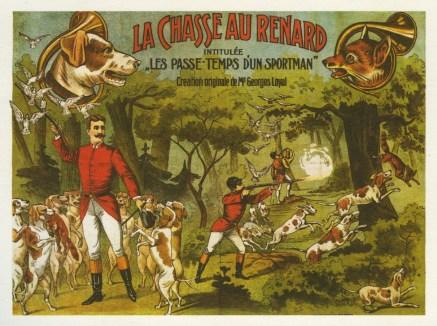 La chasse aux renards - Année 1906