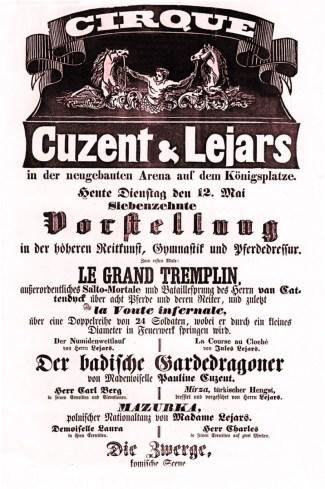 Affiche Cuzent & Lejars - 1846