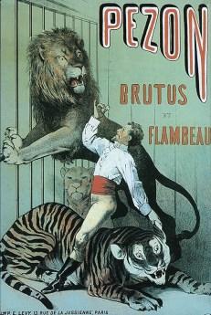 Pezon - affiche avec Brutus et Flambeau